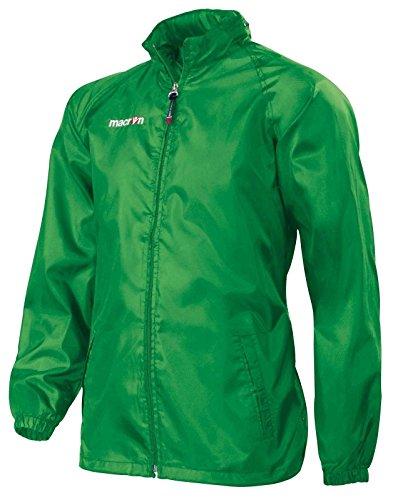 K Way Antivento con Zip Impermeabile Uomo Macron Atlantic Giacca Leggera, Colore: Verde, Taglia: S