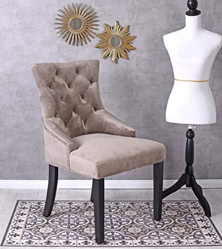 Unbekannt Esszimmerstuhl Country Club Stuhl mit Ring Samtstuhl Klopfer Küchenstuhl Button Palazzo Exklusiv