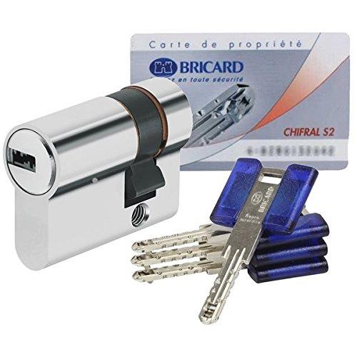 Bricard - Demi Cylindre de porte haute sécurité 30 x 10 mm...