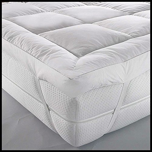 ARLINENS Luxury Mattress Topper Duck Feather & Down Extra Thick Box Constructed Stitched (KING)