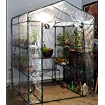 Home-complete hc-4202 walk-in greenhouse- indoor outdoor with 8 sturdy shelves-grow plants, seedlings, herbs, or flowers… 16 8 durable shelves- the 8 sturdy shelves provide plenty of room for trays, pots, or planters of anything you want to grow. It's a convenient option for any gardener! Indoor outdoor- this versatile greenhouse is ideal for both indoor and outdoor use; keep it on your backyard patio, deck, or in the basement or garage! The clear pvc cover helps protect seedlings from frost or pests for an ideal growing environment. Easy assembly- with no tools required, the greenhouse is easy to assemble! Simply follow the included instructions and connect the rods. Rope and anchors are included for stability, and each shelf comes with zip ties to ensure they can't be tipped over.