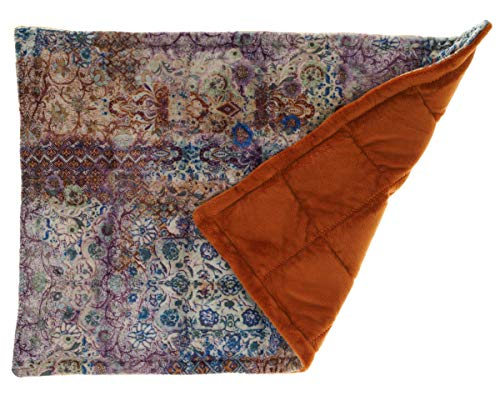 Washable Double Side Minky Weighted Sensory Lap Pad for Kids and Adults - Minky Mystik Fabric (Denim Blue, Plum, Red Vine, or Pewter), Choose Back Fabric - 1.5 lbs to 5 lbs, 4x4 Inches Pocket Size