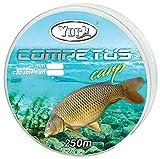York Competus CARP - Lenza per pesca alla carpa, 250 m, Nero , 0,35mm / 23kg