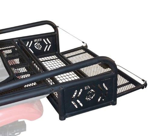 Kolpin ATV Rear Drop Basket Rack Collapsible Tailgate Universal - 53300, Black
