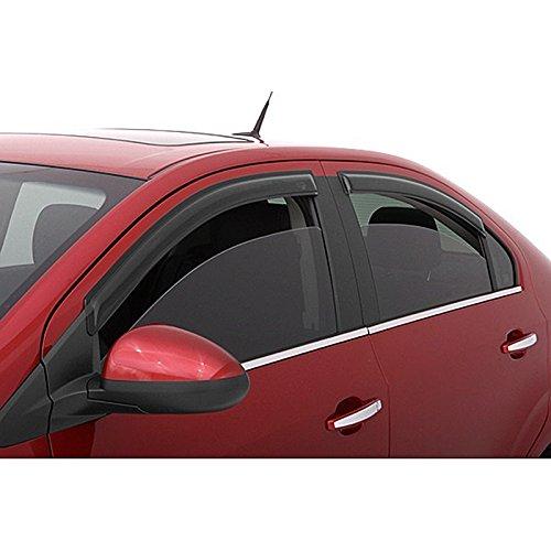 VIOJI 4pcs Front + Rear Smoke Sun Rain Guard Vent Shade Window Visors Compatible with 02-06 Altima