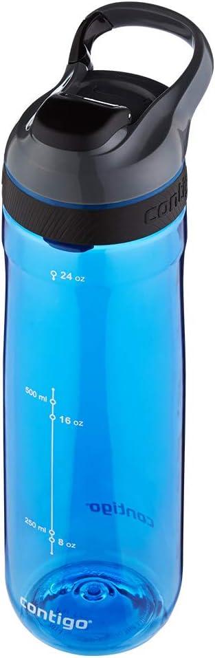 running senderismo ciclismo adecuada para deportes botella grande sin BPA apta para lavavajillas Contigo Cortland Autoseal botella de agua botella deportiva herm/ética