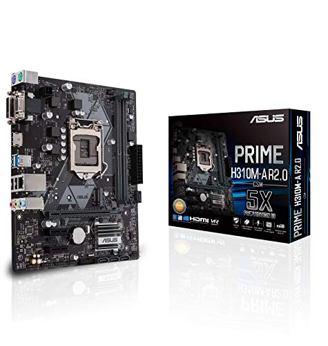 ASUS Intel H310 搭載 マザーボード LGA 1151 対応 PRIME H310M-A R2.0 / DDR4 / 2666MHz / SATA 6Gbps 【mATX】