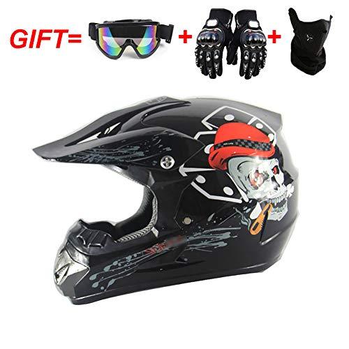 RVRE Unisex-Adult Scooter Motorradhelm Integral-Motorradhelm Mountainbike-Helm, modularer Motorrad-Integralhelm-StyleB-XL