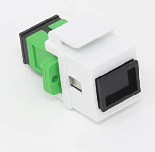 Fiber Optic Keystone Coupler Jack SC Simplex Singlemode APC - White