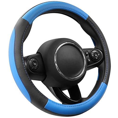 COFIT Pelle Microfibra Blu e Nero Coprivolante S 35.5-36cm