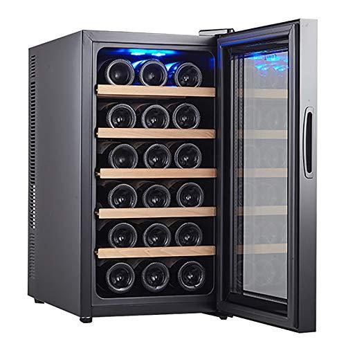 VIY Nevera Vinoteca Mini Bar vinotecas Capacidad 50 litros 18 Botellas 5 estantes Rango de Temperatura 11 a 18°C Bajo Ruido Iluminación Interior Fácil Limpieza 65 W Negro