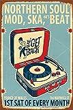 HONGXIN Northern Soul Mod Ska Beat Vintage Metallschild