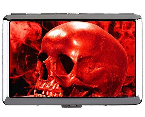 Cassa di identificazione o delle sigarette dell'acciaio inossidabile di Yanteng sveglia, sigarette rosse 14pcs del pacchetto di morte di inferno del fumo
