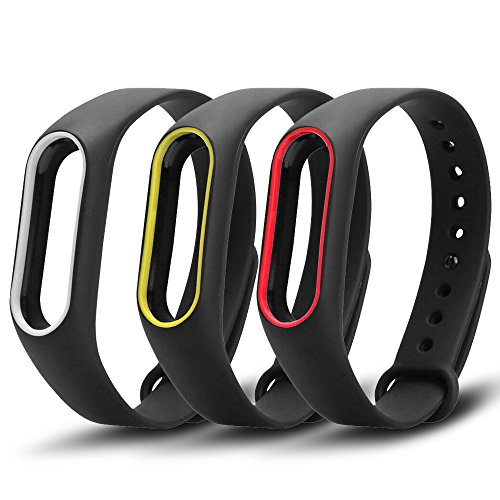 Awinner - braccialetto di ricambio colorato impermeabile per Xiaomi Mi Band 2 Smart Miband 2nd (Activity Tracker non incluso).
