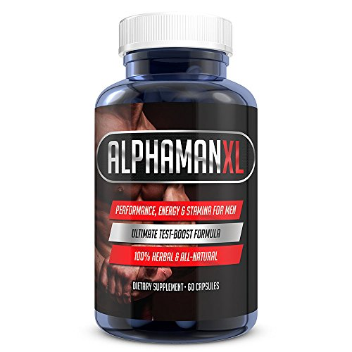 AlphaMAN XL Male Pills - Enlargement Booster Increases Energy, Mood & Stamina | Best Performance Supplement for Men - (60 Capsules - 1 Month Supply)