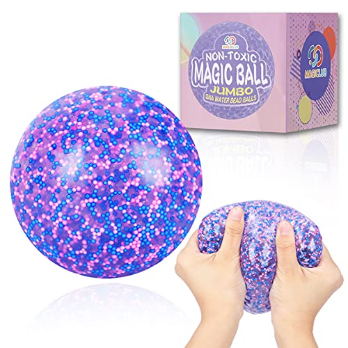 MAGICLUB Giant Stress Ball for Adults and Kids,4-Inch Jumbo Squishy Stress Relief Ball Fidget Toy,...