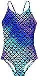 RAISEVERN Meerjungfrau Schwimmen Kostüm Einteilige Badeanzüge Hawaiianische Badebekleidung Badeanzug für kleine Mädchen Beach Play