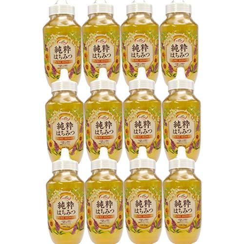 純粋はちみつ (1kgx12本) 業務用 はちみつ 蜂蜜 ハチミツ 100%純粋 アカシア 大容量サイズ 業務用