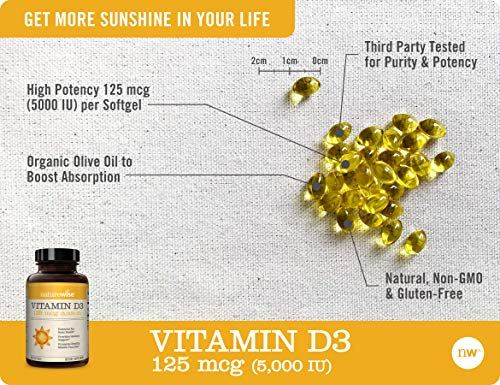 NatureWise Vitamin D3 5,000 IU-360 Count