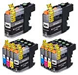 Bergsan 10 Cartucho de Tinta Compatible para Brother LC-123 LC123 XL para MFC-J6520DW MFC-J6920DW DCP-J132W DCP-J152W DCP-J152WR DCP-J172W DCP-J552DW DCP-J752DW DCP-J4110DW MFC-J245 MFC-J285DW
