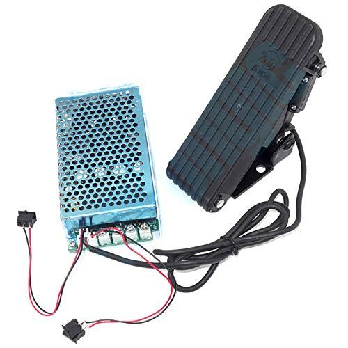 Regulador de velocidad del motor CC 12 V 24 V 36 V 10 – 50 V 4000 W 100 A con placa de base, regulador de velocidad del motor PWM, arranque suave, control de motor hacia adelante y hacia atrás