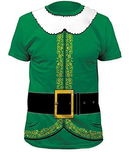 Impact Santa's Elf Costume T-Shirt (X-Large) Green