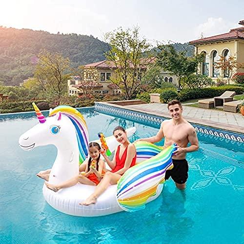 LZZB Inflable ala de Color Montaje de Unicornio Montaje de Flamenco Fila Flotante Inflable PVC Ocio Dinero Entre Padres e Hijos natación Piscina Infantil Juguete Interactivo