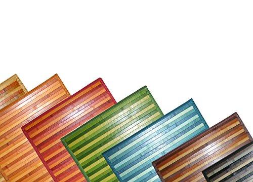 SOFFICIOSO Tappeto Bamboo Degradee Passatoia da Cucina Antiscivolo 50x100 cm Nero