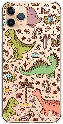 iPhone 11 Pro Max (6.5 inch) Case,Blingy's New Fun Dinosaur Style Transparent Clear Soft TPU Protective Case Compatible for iPhone 11 Pro Max 6.5