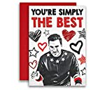 Schitt's Creek Simply the Best David Rose Card Colored Pencil 5x7 inches w/Envelope