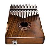 17 teclas EQ kalimba Solid Acacia Thumb Piano Link Speaker Pastilla eléctrica con bolsa Cable Oshide...