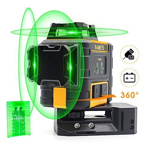 KAIWEETS Laser Level 3 X 360 Green Line