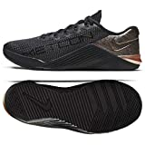 Nike Women's Metcon 5 X Training Shoes (8.5, Black/Black/Metallic Red Bronze)