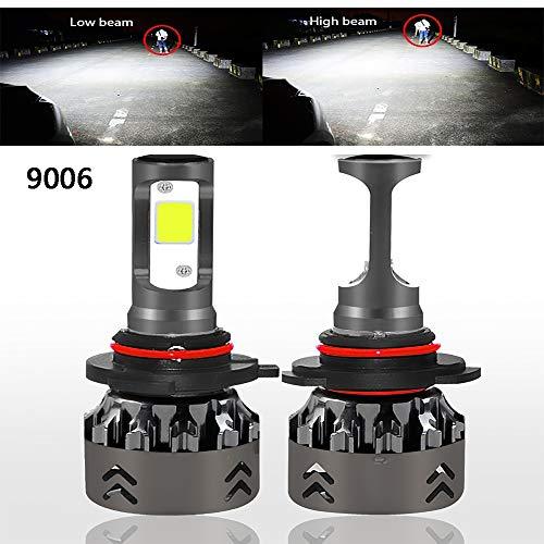 Mago Led-koplamp, 60 W, 6000 lm, superhelder, 6000 K, koudwit licht met geïntegreerde ventilator, snel koelen, ombouwkit voor xenon- en halogeenlampen
