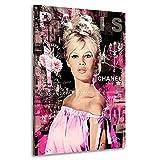 Kunstgestalten24 Leinwandbild Brigitte Bardot Pink Style