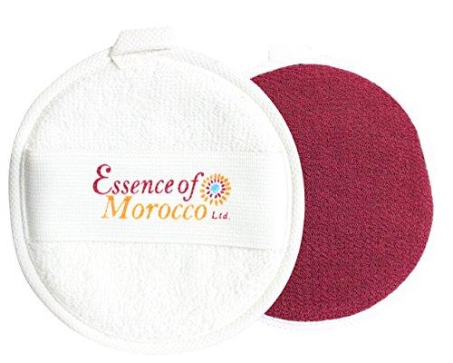 Houppette Kessa Marocaine pour exfoliation et nettoyage du visage et cou. Double Face (1 Houppette)