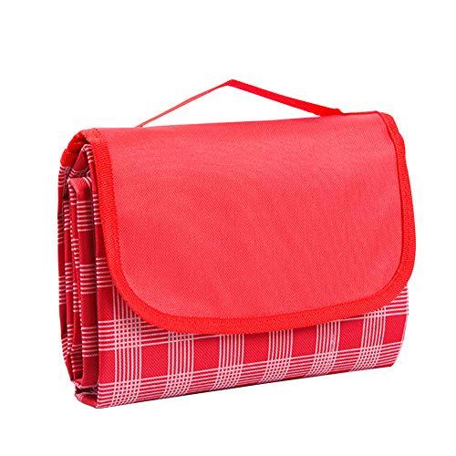 WENGYU Estera plegable para picnic, para dormir, impermeable, para senderismo, resistente a la humedad, manta de cuadros ampliada para varias personas