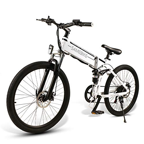 Elektrofahrrad Ebike Mountainbike Klapprad 26 Zoll mit 48V 10Ah Lithium-Akku, 500W Motor 30km/h, Shimano 21-Gang Aluminiumrahmen Scheibenbremse, Elektrische E-Bike für Herren Damen