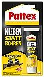 Pattex Montagekleber Kleben statt Bohren, starker Kraftkleber für sofortigen Halt, universell...