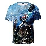 De.Pommeyeux Mazinger Z - Camiseta de manga corta para hombre, estilo japonés, anime, cosplay en 3D