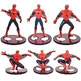 Mini Juego de Figuras Decoración para Tartas, 6 Piezas Decoración De Superhéroes Cake Topper, Spiderman Cumpleaños Decoración de Torta del fiesta suministros Figuras para Magdalenas Mini Modelo