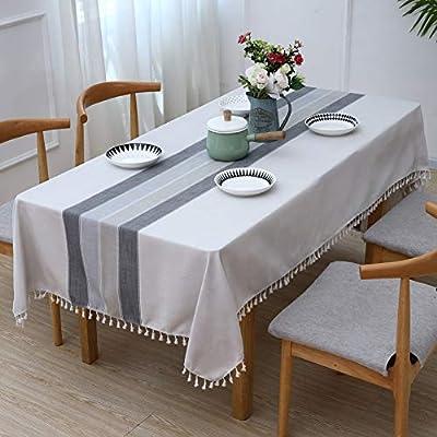 YISUN Table Cloth, Stitching Tassel Rectangle T...