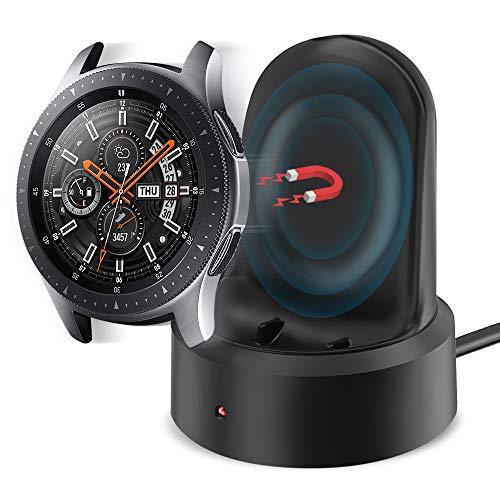 KIMILAR Ladegerät Kompatibel mit Samsung Galaxy Watch 46mm / 42mm / Gear S3 Ladestation,Tragbar Magnetisch Ladekabel Kabel USB Daten Cradle Dock für Galaxy Watch 42mm / 46mm / Gear S3 Smartwatch