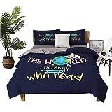 Dragon Vines - Juego de 4 fundas de cama de matrimonio para cama de matrimonio de cuatro piezas, círculos redondos individuales con lunares planetas o flores, diseño moderno con estampado de arte moderno, color azul pálido y negro
