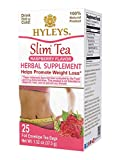 Hyleys Slim Tea Raspberry - 25 Tea Bags (100% Natural, Sugar Free, Gluten Free and Non-GMO)