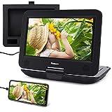 """10.1"""" Reproductor DVD Portátil Coche soporta HDMI Entrada con Pantalla Giratoria, para Niño con Batería Recargable, soporta USB/DVD/CD Región Libre con Mando a Distancia - NAVISKAUTO"""