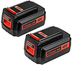 Replacement for Black and Decker 40V 2.5Ah Lithium Battery MAX LBX2040 LBXR36 LBXR2036 LST540 LCS1240 LBX1540 LST136W 2Pack