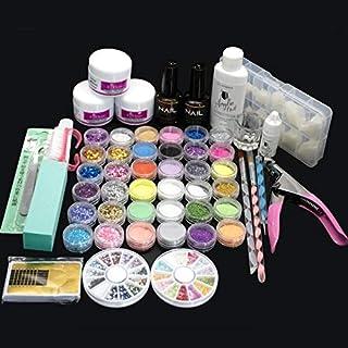 Acrylic Powder Glitter Nail Art Kit False Nail Tips Nail Art Decoration Tools, Nail Art Tools Kit Decoration Tools Professional Manicure Set