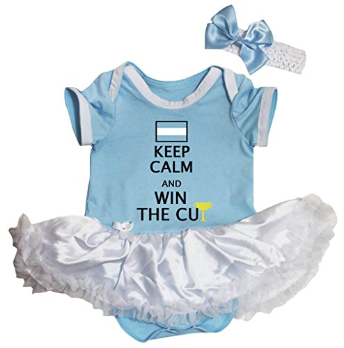 Petitebelle Argentinië Keep Calm en Win De Beker Blauw Bodysuit Babyjurk Nb-18m