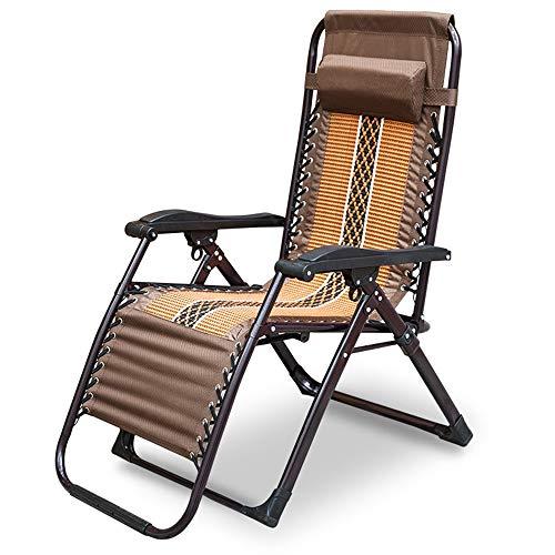Axdwfd Zero Zwaartekrachtstoel, ligstoel, opklapbare balkonstoel strandstoel versterkingsstoel lunchbed rieten stoel bureaustoel 180x69x77cm